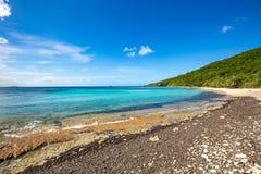 Rivage Culebra Puerto Rico de bord de la mer de plage de flamenco images libres de droits