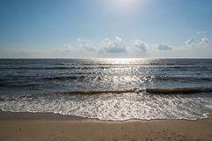 Rivage de baie de Delaware Photos stock