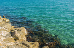 Rivage de bord de la mer de l'Espagne Photos stock
