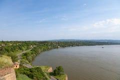 Rivage de Danube de forteresse de Petrovaradin à Novi Sad, Serbie Photo libre de droits