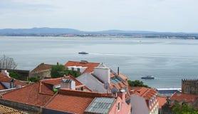Rivage de golfe de Lisbonne Image libre de droits