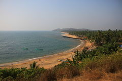 Rivage de l'Océan Indien Anjuna, Goa Photos stock