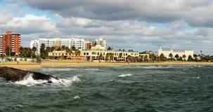 Rivage de la baie du port Philip Image stock