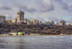 Rivage de la Mer Noire, Constanta, Roumanie Photos libres de droits