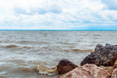 Rivage de lac Photographie stock