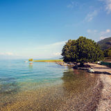 Rivage de lac Ohrid Photographie stock