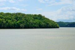 Rivage de lac synthétique Photographie stock libre de droits