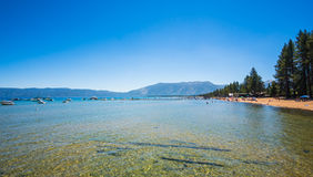 Rivage de Lake Tahoe Photos stock