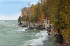 rivage de Michigan de lac d'automne Images libres de droits