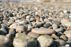 Rivage de pierres de mer Photos libres de droits