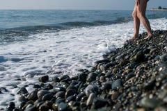 Rivage de pierres de mer Images stock