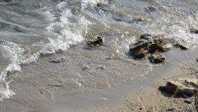 Rivage de plage de roche, le bord de mer clips vidéos