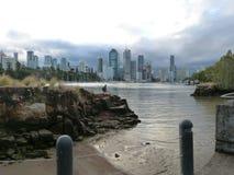 Rivage de rivière de Brisbane, Brisbane, Australie Images stock