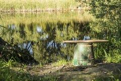 Rivage de rivières Photo stock