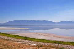 Rivage de Salt Lake Image libre de droits