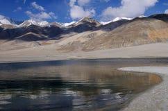 Rivage de TSO de Pangong (lac) Photos libres de droits