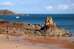 Rivage du Jersey Photo libre de droits