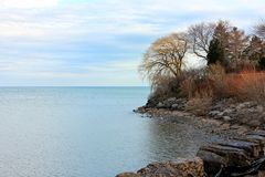 Rivage du lac Ontario à St Catharines Photographie stock