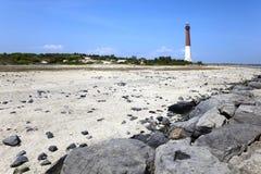 Rivage du New Jersey de phare de Barnegat. Photos libres de droits