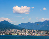 Rivage du nord Vancouver Image stock