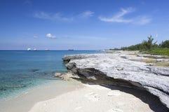 Rivage grand d'île de Bahama Images stock