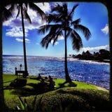 Rivage Kauai de sud Image libre de droits