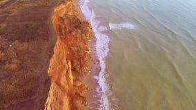 Rivage rocheux de la mer banque de vidéos