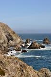 Rivage rocheux près de baie de Bodega photo stock