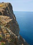 Rivage rocheux près de cap Khoboy Image stock
