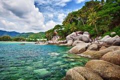 Rivage tropical exotique d'océan photo stock