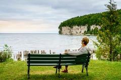 Rivages du lac Michigan Images libres de droits