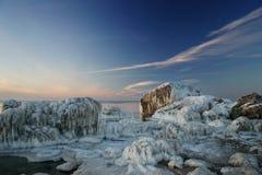 Rivages glacials sur la côte Photo libre de droits