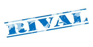 Rival blue stamp. On white background Royalty Free Stock Photo