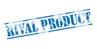 Rival product blue stamp Stock Photo