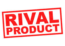 RIVAL PRODUCT. Red Rubber Stamp over a white background Stock Photography