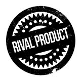 Rival Product rubber stamp. Grunge design with dust scratches. Effects can be easily removed for a clean, crisp look. Color is easily changed Stock Photography