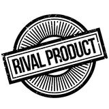 Rival Product rubber stamp. Grunge design with dust scratches. Effects can be easily removed for a clean, crisp look. Color is easily changed Royalty Free Stock Images