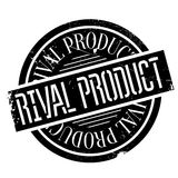 Rival Product rubber stamp. Grunge design with dust scratches. Effects can be easily removed for a clean, crisp look. Color is easily changed Stock Photos