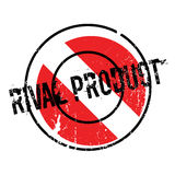 Rival Product rubber stamp. Grunge design with dust scratches. Effects can be easily removed for a clean, crisp look. Color is easily changed Stock Images