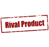 Rival product. Rubber stamp with text rival product inside,  illustration Stock Image