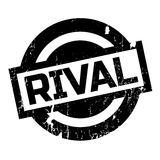 Rival rubber stamp. Grunge design with dust scratches. Effects can be easily removed for a clean, crisp look. Color is easily changed Royalty Free Stock Images