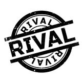 Rival rubber stamp. Grunge design with dust scratches. Effects can be easily removed for a clean, crisp look. Color is easily changed Royalty Free Stock Image