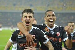 Rivaldinho joy with Sergiu Catalin Hanca Royalty Free Stock Photo