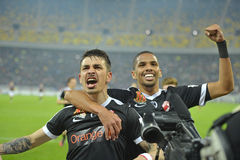 Rivaldinho joy with Sergiu Catalin Hanca Stock Photography