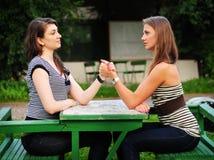 Rivalidad femenina Imagen de archivo libre de regalías