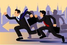 Rivalità di affari Immagini Stock Libere da Diritti