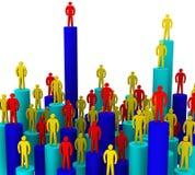 Rivaliteit tussen zakenlieden Royalty-vrije Stock Afbeelding