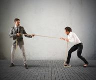 Rivalry in business Royalty Free Stock Photography