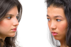 Rivalry between females Stock Images
