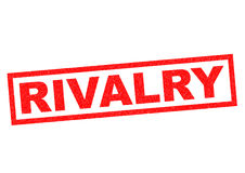 RIVALRY. Red Rubber Stamp over a white background royalty free illustration